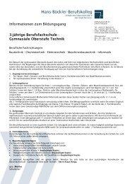 Informationen zum Bildungsgang 3-jährige Berufsfachschule ...