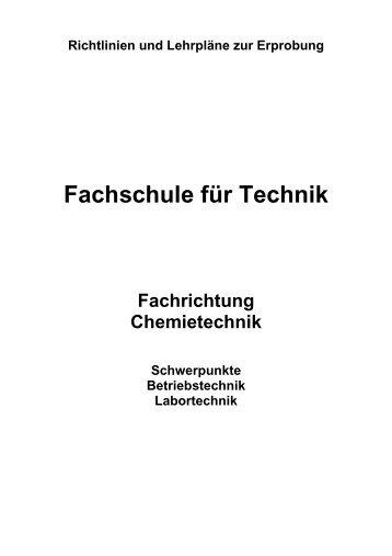 Chemietechnik - Berufsbildung