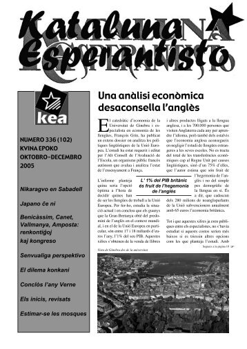 Una anàlisi econòmica desaconsella l'anglès - Associació Catalana ...
