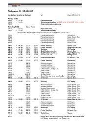 Zeitplan Nürburgring 2013 V1 - Hegersport