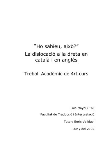 1. INTRODUCCIÓ - Laia Mayol