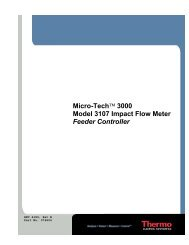Micro-Tech™ 3000 Model 3107 Impact Flow Meter Feeder Controller