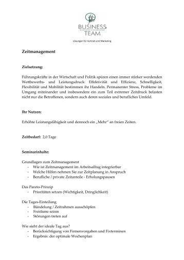 Zeitmanagement - 1plus Business Team