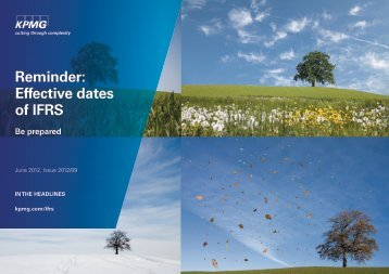 Reminder: Effective dates of IFRS - KPMG