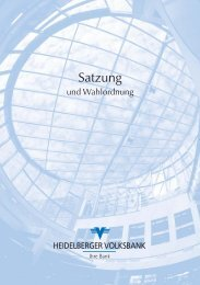 Satzung 2012 - Heidelberger Volksbank eG