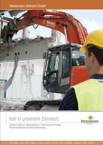Heidemann Abbruch GmbH Unternehmensbroschüre als PDF