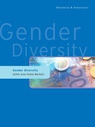Gender Diversity within Asia Global Markets - Heidrick & Struggles