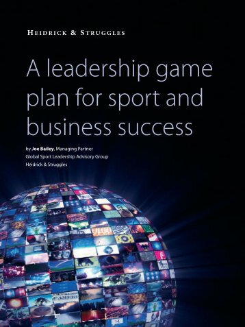 A leadership game plan for sports and business - Heidrick & Struggles