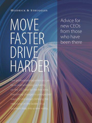 Move Faster Drive Harder - Heidrick & Struggles