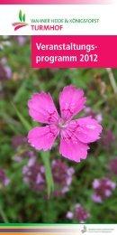 Veranstaltungs- programm 2012 - Forum Wahner Heide / Königsforst
