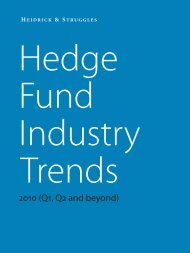 Hedge Fund Industry Trends 2010 - Heidrick & Struggles