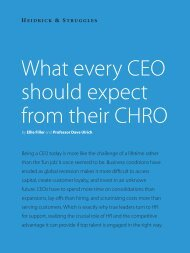 What every CEO should expect from their CHRO - Heidrick & Struggles