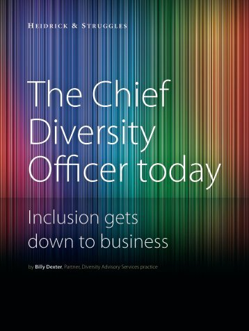 The Chief Diversity Officer today - Heidrick & Struggles