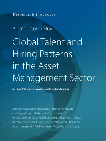 Global Talent and Hiring Patterns in the Asset Management Sector
