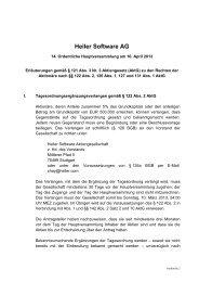 Heiler Software AG