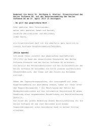 Rede Dr. Wolfgang Köstler - Heiler Software AG