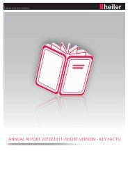 AnnuAl RepoRt 2010/2011 - Heiler Software AG