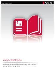 Quartalsbericht Q3 2011 / 2012