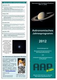 Astronomisches Jahresprogramm 2012 - Sternwarte ...