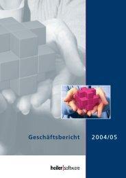 Geschäftsbericht 2004 / 2005 - Heiler Software AG