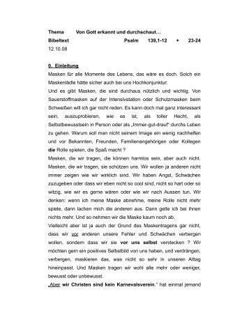 Predigt lesen - 28. Okt 2012 - Die Heilsarmee