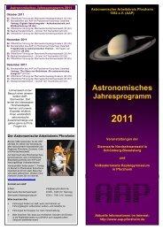Astronomisches Jahresprogramm 2011 - Sternwarte ...
