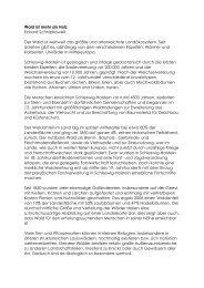 Wald ist mehr als Holz - Schleswig-Holsteinischer Heimatbund eV