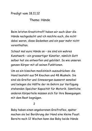 Predigt lesen - 18. Nov 2012 - Die Heilsarmee