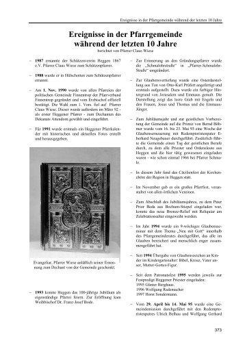 Kirchliches Leben - Heimatbund Finnentrop