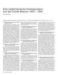Eine niederrheinische Korrespondenz aus der Familie Besouw 1943