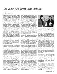Der Verein für Heimatkunde 2005/2006