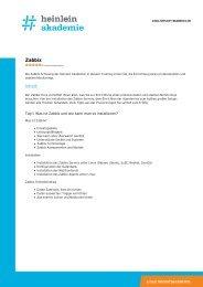 """Schulung """"Zabbix"""" als PDF-Download - Heinlein"""