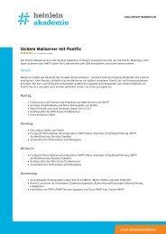 """""""Sichere Mailserver mit Postfix"""" als PDF-Download - Heinlein"""