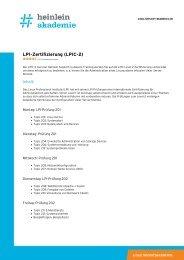 """Schulung """"LPI-Zertifizierung (LPIC-2)"""" als PDF-Download - Heinlein"""