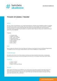 """""""Firewalls mit iptables / fwbuilder"""" als PDF-Download - Heinlein"""