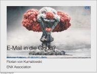 Gehört E-Mail in die Cloud? Vortragsfolien der 5 ... - Heinlein