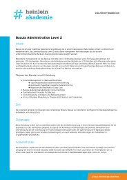 Bacula Administration Level 2 - Heinlein