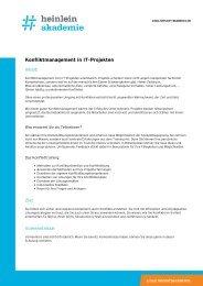 """""""Konfliktmanagement in IT-Projekten"""" als PDF-Download - Heinlein"""