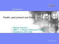 Postfix, past present and future (en) - Heinlein