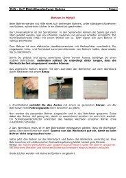 PidS - NuT Metallbearbeitung: Bohren Szasz Bohren in Metall