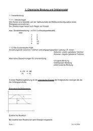 1. Chemische Bindung und Orbitalmodell - heinrichonline.de