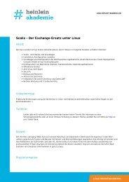 """Schulung """"Scalix - Der Exchange-Ersatz unter Linux"""" - Heinlein"""