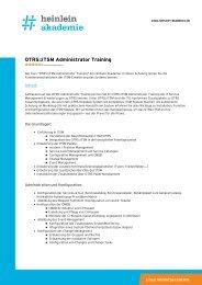 """""""OTRS::ITSM Administrator Training"""" als PDF-Download - Heinlein"""
