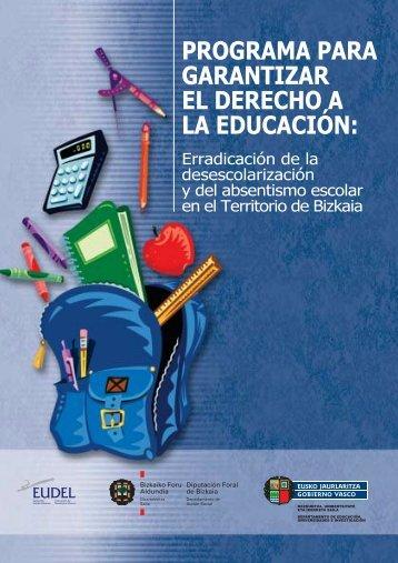 Programa para garantizar el derecho a la educación