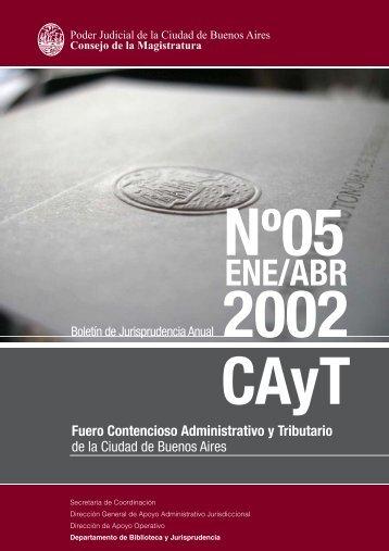 FCAyT 2002 - ENE ABR - Juristeca - Poder Judicial de la Ciudad