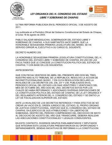 LEY ORGANICA DEL H. CONGRESO DEL ESTADO 03Agosto2011 ...