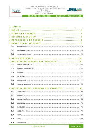 IAP Construccion de pozos exploratorios PZx 1221 ... - Organismos