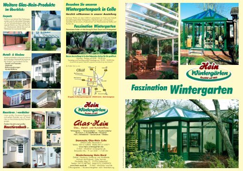 Download Flyer Wintergarten Pdf Glaserei Hein Celle