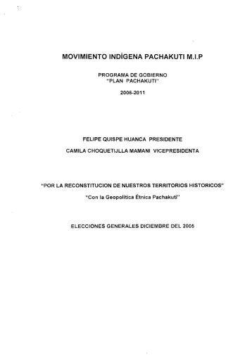 movimiento indígena pachakuti mip - Tribunal Supremo Electoral