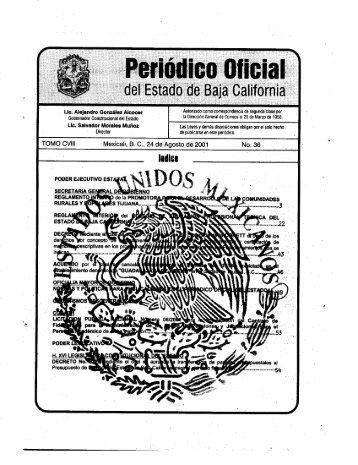 TOMO CVIII - Gobierno del Estado de Baja California